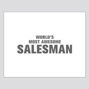 WORLDS MOST AWESOME Salesman-Akz gray 500 Posters