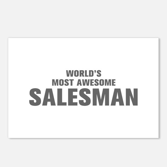 WORLDS MOST AWESOME Salesman-Akz gray 500 Postcard