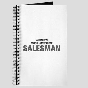 WORLDS MOST AWESOME Salesman-Akz gray 500 Journal