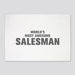 WORLDS MOST AWESOME Salesman-Akz gray 500 5'x7'Are