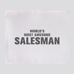 WORLDS MOST AWESOME Salesman-Akz gray 500 Throw Bl