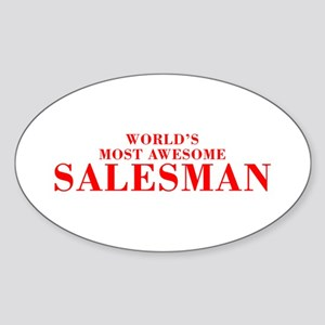 WORLDS MOST AWESOME Salesman-Bod red 300 Sticker