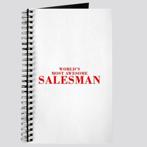 WORLDS MOST AWESOME Salesman-Bod red 300 Journal