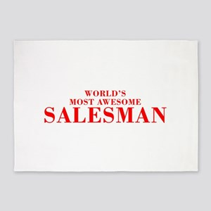 WORLDS MOST AWESOME Salesman-Bod red 300 5'x7'Area