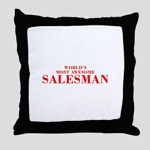 WORLDS MOST AWESOME Salesman-Bod red 300 Throw Pil
