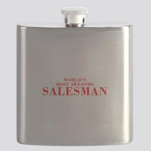 WORLDS MOST AWESOME Salesman-Bod red 300 Flask