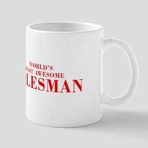 WORLDS MOST AWESOME Salesman-Bod red 300 Mugs