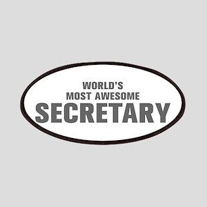 WORLDS MOST AWESOME Secretary-Akz gray 500 Patch