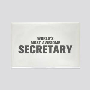 WORLDS MOST AWESOME Secretary-Akz gray 500 Magnets