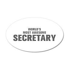 WORLDS MOST AWESOME Secretary-Akz gray 500 Wall De