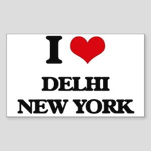 I love Delhi New York Sticker