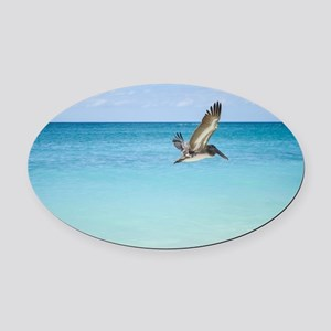 Flying Free Oval Car Magnet
