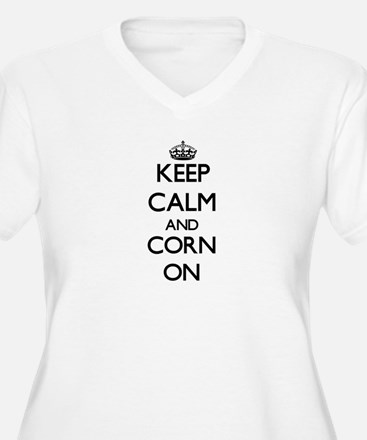 Keep calm and Corn ON Plus Size T-Shirt