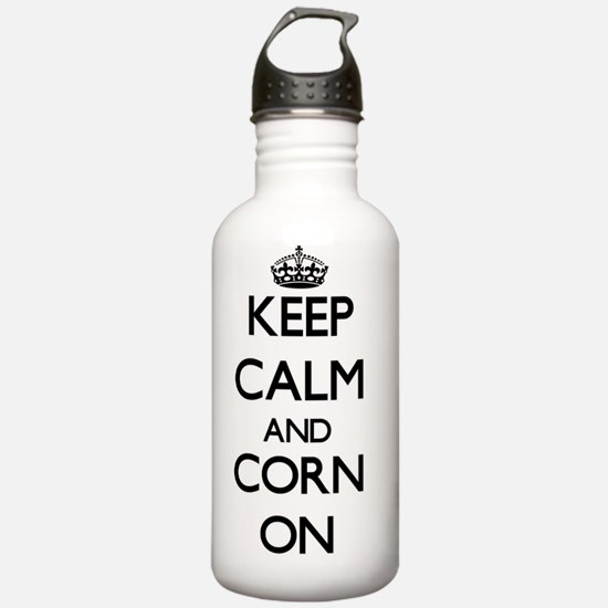 Keep calm and Corn ON Water Bottle