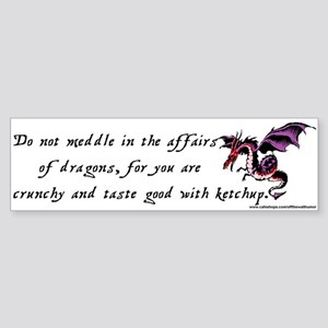 dragons Bumper Sticker