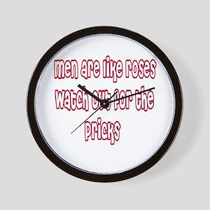 Men Are Like Roses Wall Clock