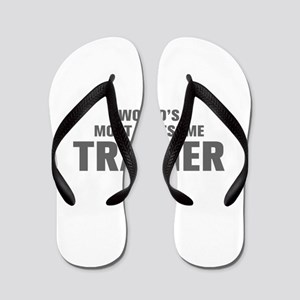 WORLDS MOST AWESOME Trainer-Akz gray 500 Flip Flop