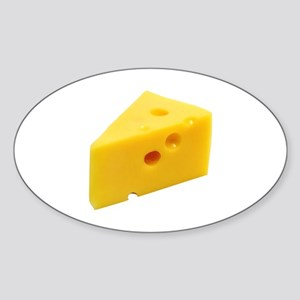Cheese Wedge Sticker (Oval)