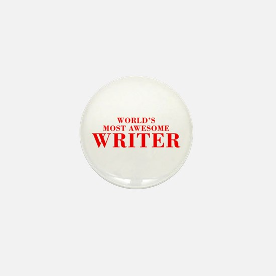 WORLDS MOST AWESOME Writer-Bod red 300 Mini Button