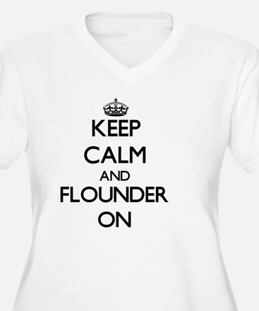 Keep calm and Flounder ON Plus Size T-Shirt