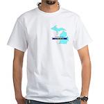 True Blue Michigan LIBERAL White T-Shirt