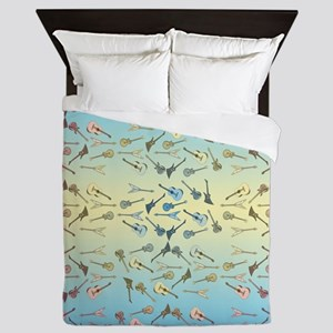 Guitars Pattern Queen Duvet