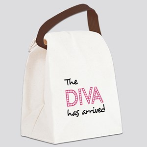 DIVA HAS ARRIVED Canvas Lunch Bag