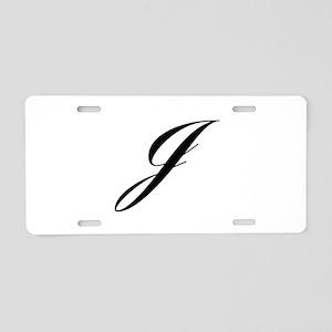 J-Lou black Aluminum License Plate