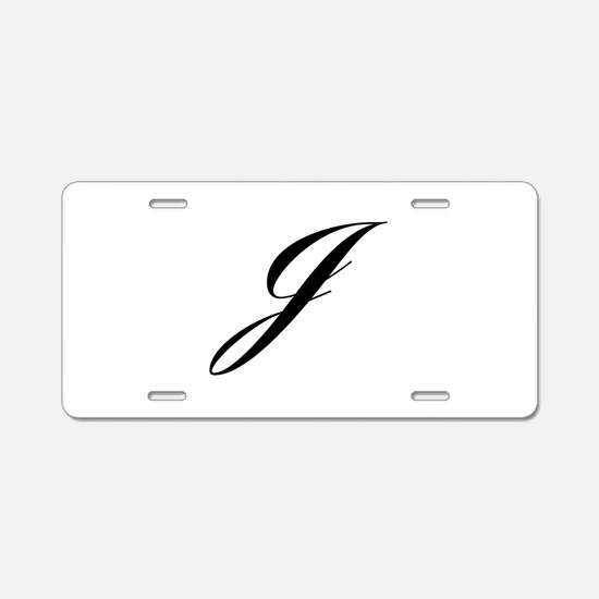 J-Lou black Aluminum License Plate