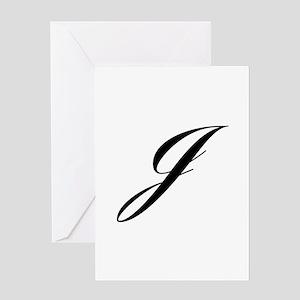 J-Lou black Greeting Cards