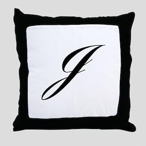 J-Lou black Throw Pillow