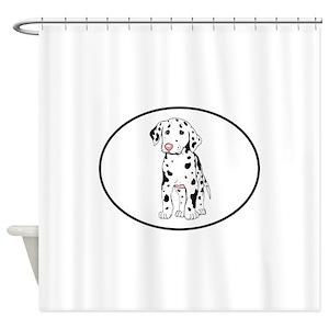 Dalmatian Puppy Shower Curtains