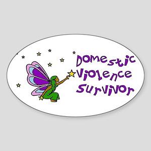 Domestic Violence Survivor Oval Sticker