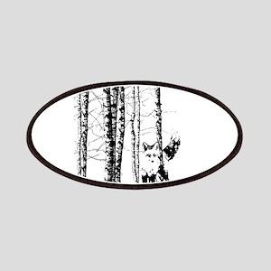 Fox in Birch Forest Modern Art Patch