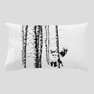 Fox in Birch Forest Modern Art Pillow Case