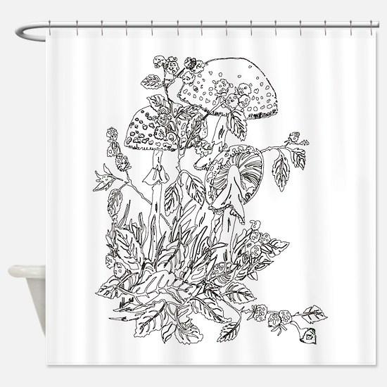 My Mushroom Mystery Shower Curtain
