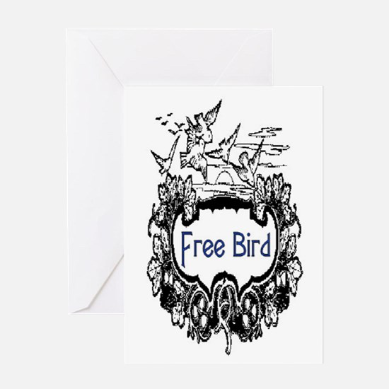 FREE BIRD Greeting Card