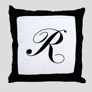R-Lou black Throw Pillow