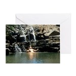 Amazon at Twin Falls Greeting Card