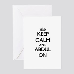 Keep Calm and Abdul ON Greeting Cards
