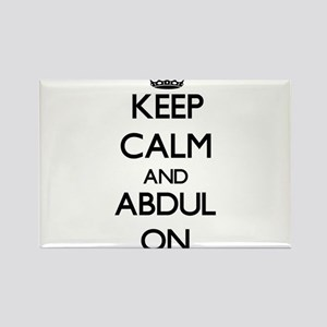 Keep Calm and Abdul ON Magnets