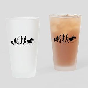 Snowplow Driver Drinking Glass