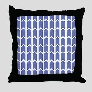 Cornflower Blue Fence Panel Throw Pillow