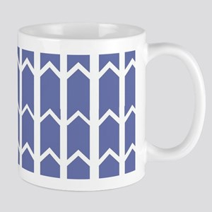 Cornflower Blue Fence Panel Mugs