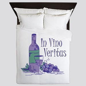 IN VINO VERITAS Queen Duvet