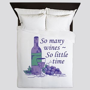 SO MANY WINES Queen Duvet