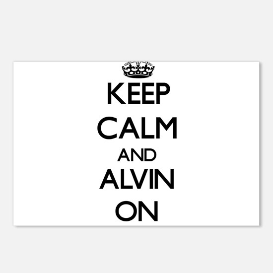 Keep Calm and Alvin ON Postcards (Package of 8)