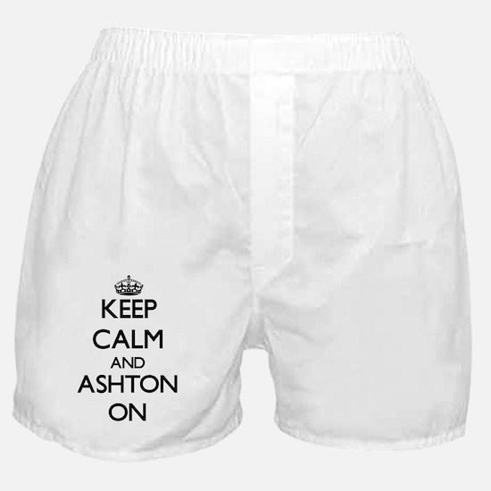 Keep Calm and Ashton ON Boxer Shorts