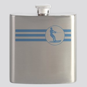 Water Skier Stripes (Blue) Flask
