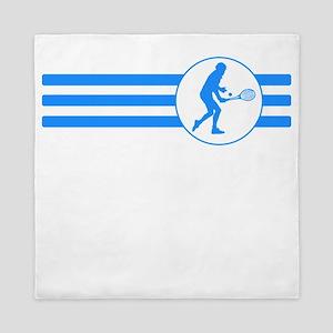 Tennis Player Stripes (Blue) Queen Duvet